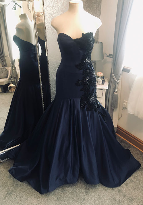 Angel Couture by Kay Heeley Bespoke Navy Dress