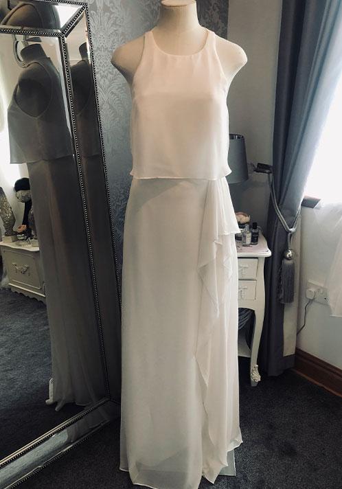 Hayley Paige Chiffon Dress