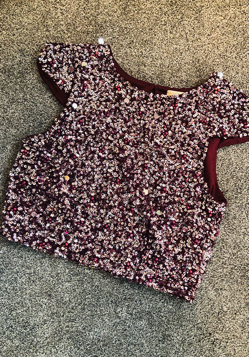 Lace and Beads Pica Top