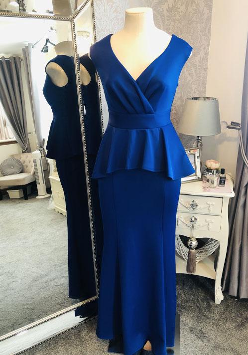 Pink Boutique Cobalt Blue Dress