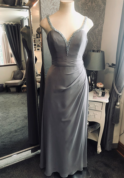 Romantica Grey Pearl Dress