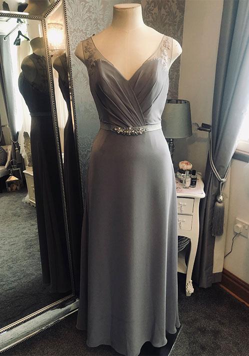 Romantica Lace Grey Dress